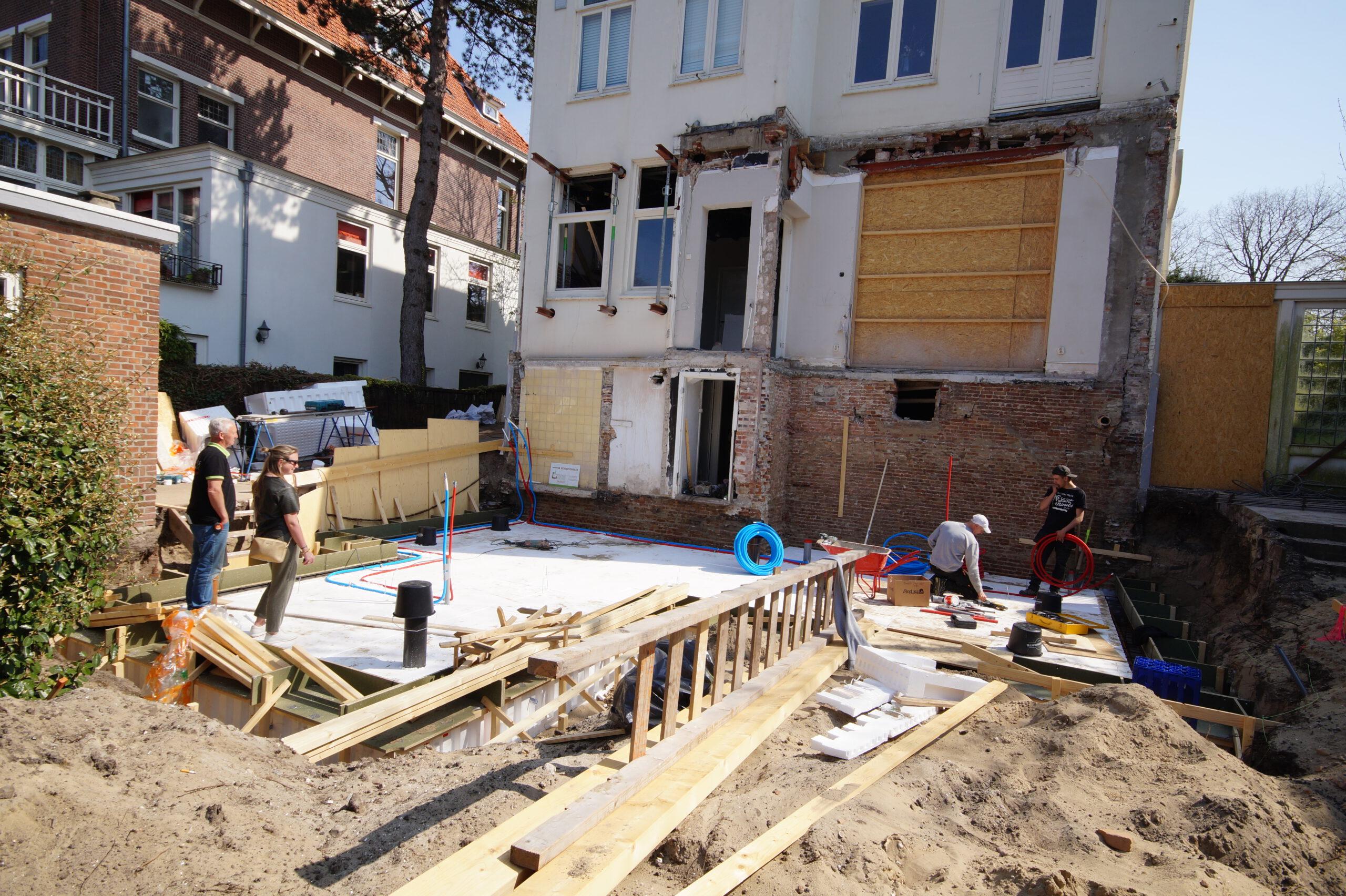 Verbouwing woning aan het van Stolkpark Den Haag